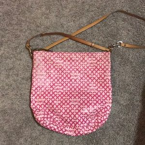 Logo C Coach hobo bag in hot pink